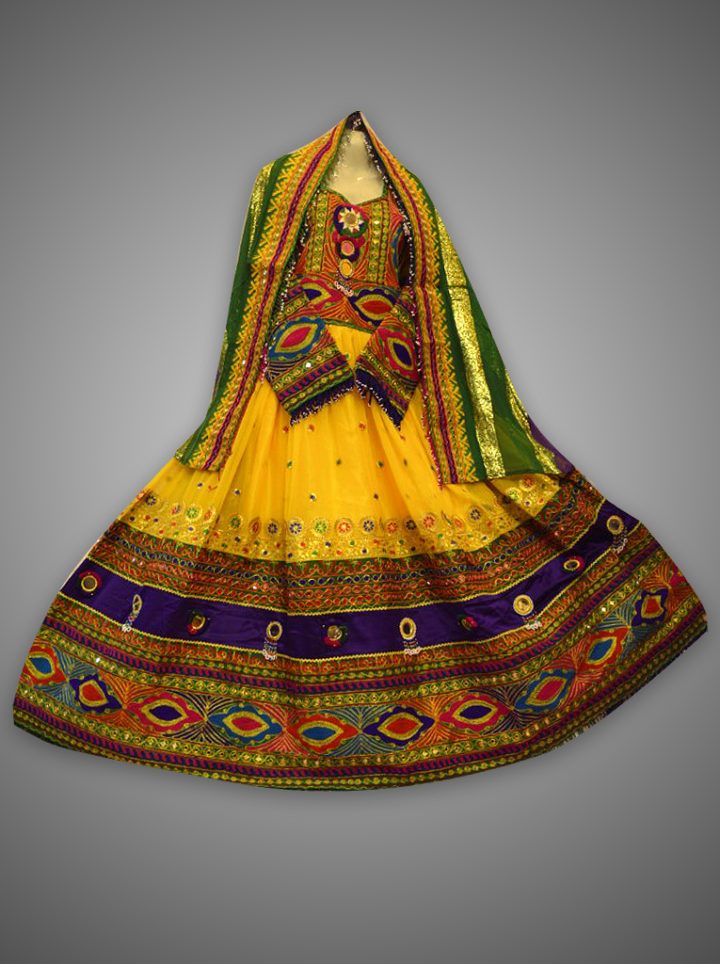 Traditional Kuchi Multi Frock Dress