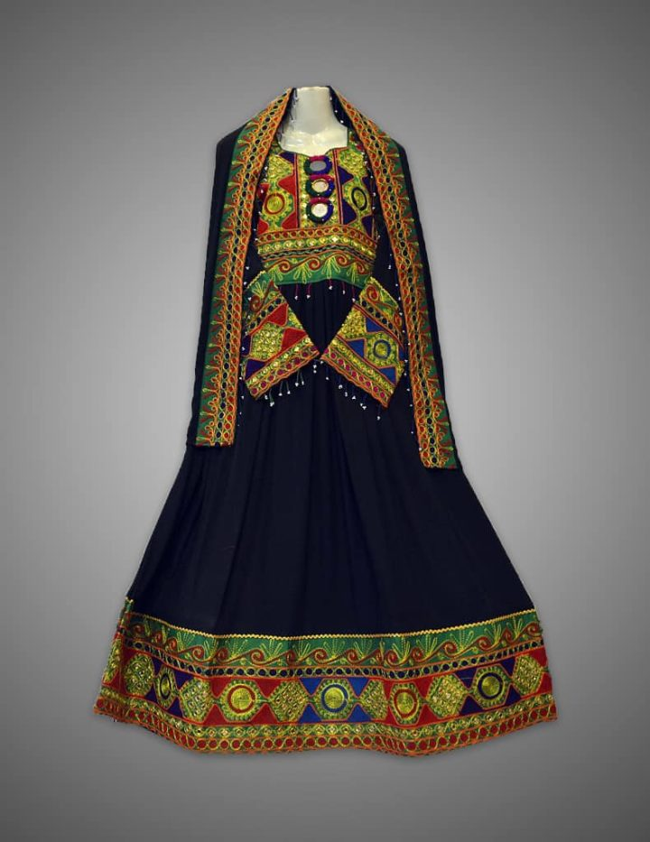 Navy Afghani frock