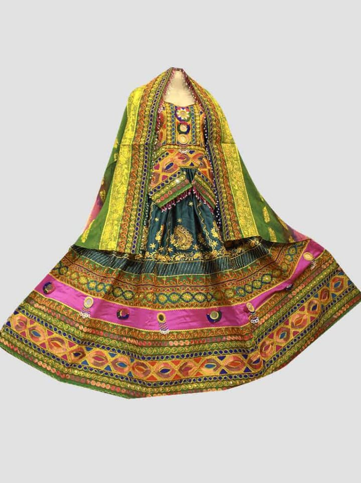 Multilayered Afghan Kuchi Dress for Nikkah