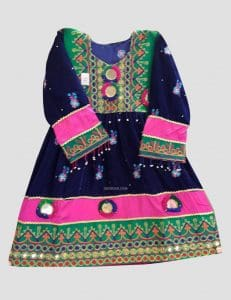 Kamees Tor Afghan Kuchi Dress for Kids