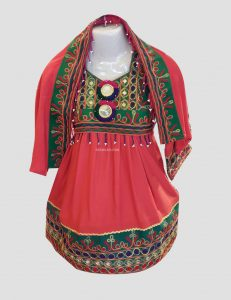 Sur Peky Afghan Kuchi Dress for Kids
