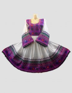 Purple Embroidered Afghani Top