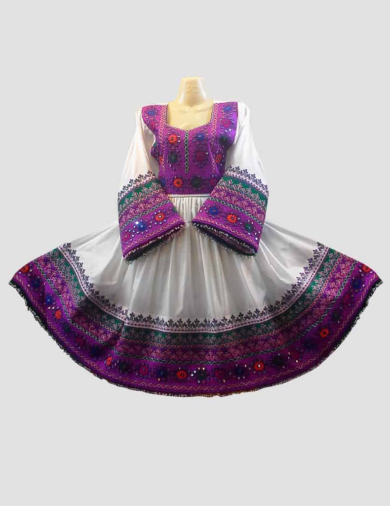 Purple Embroidered Afghani Top