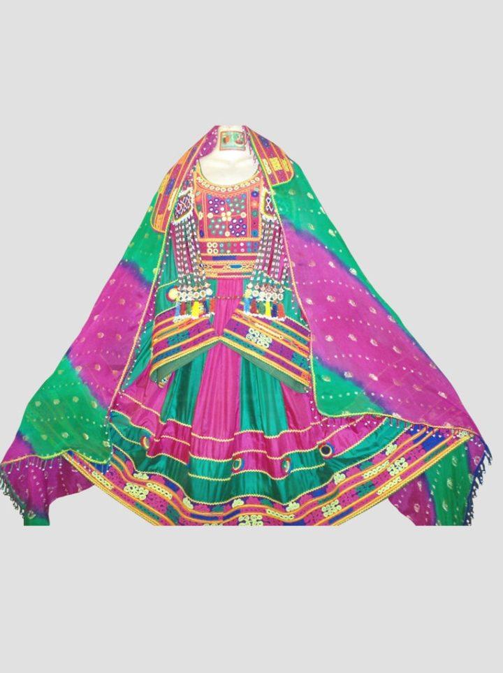 Tie & Dye Afghan Kuchi Dress