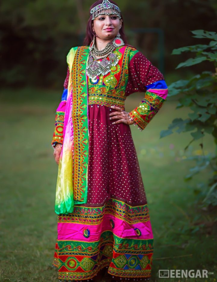 Deep Purple Full-Length Afghani Dress