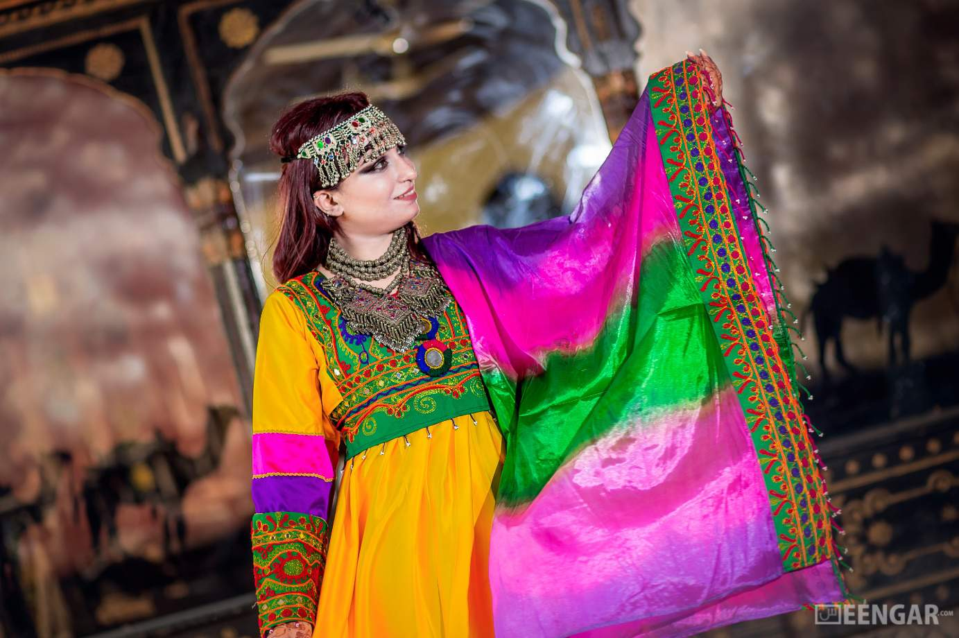 Vibrant Afghani Frock