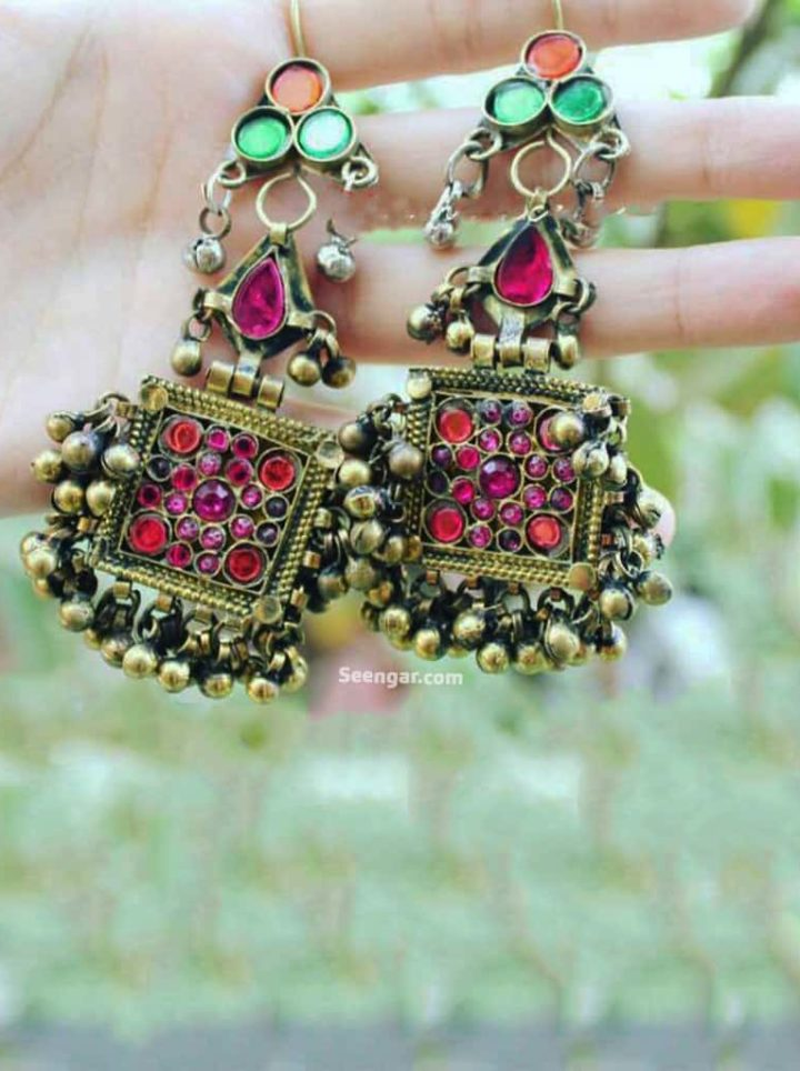 Dazzling Dangling Hanging Jhumki Earrings