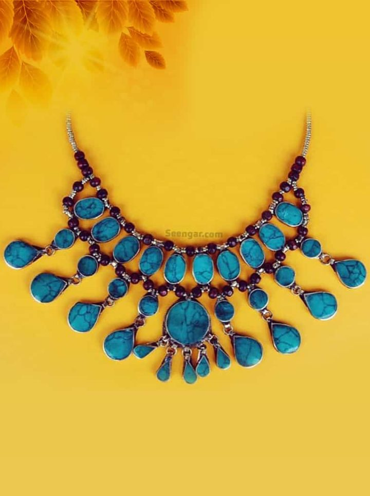 Turquiose Bib Statement Necklace