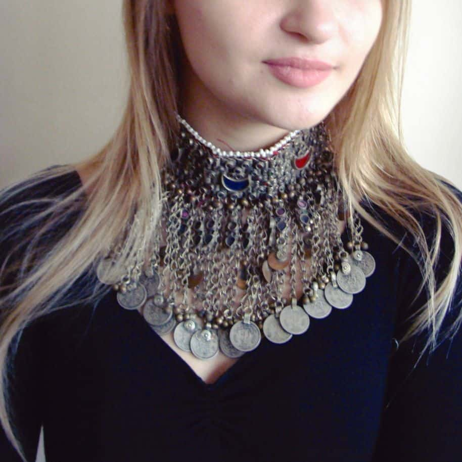 Multi Stoned Traditional Hanging Choker 2