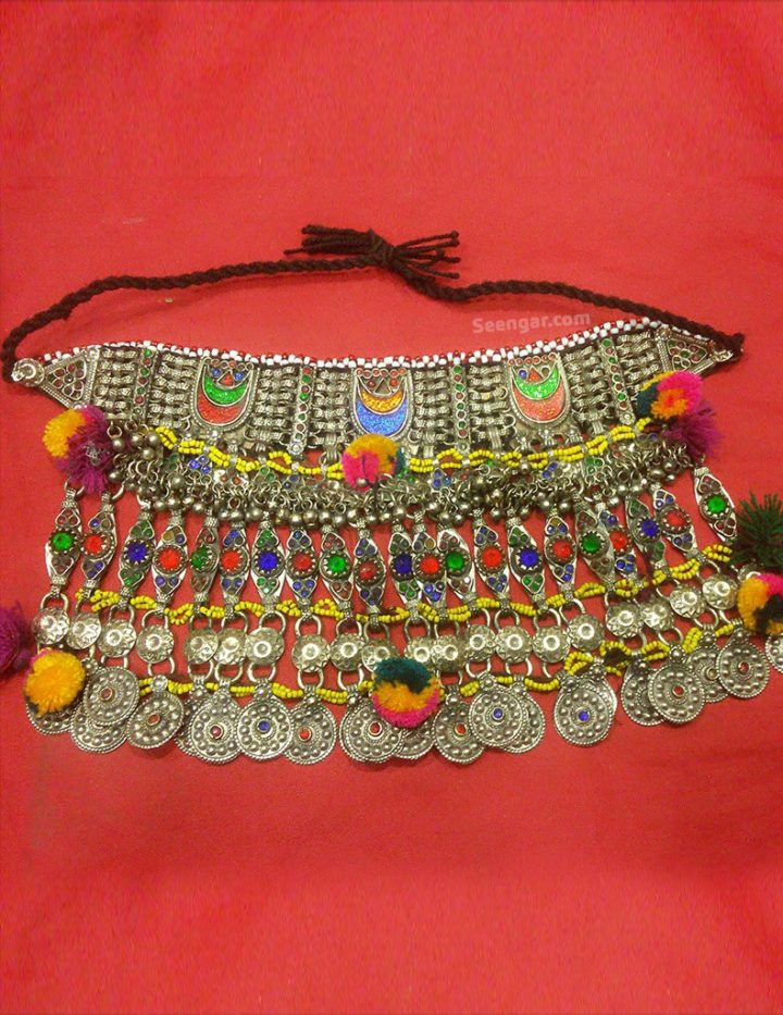 Multi Stoned Traditional Hanging Choker