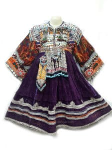 Afghan Kuchi Purple Vintage Dress