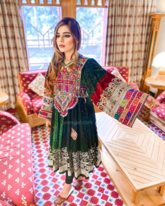 Green Vintage Afghan Clothes