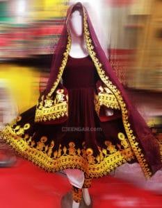 Brown Velvet Dress