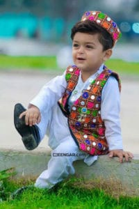 Floral Waistcoat for Kids