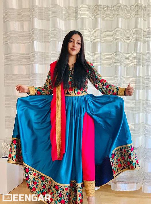 Afghan Blue Dress