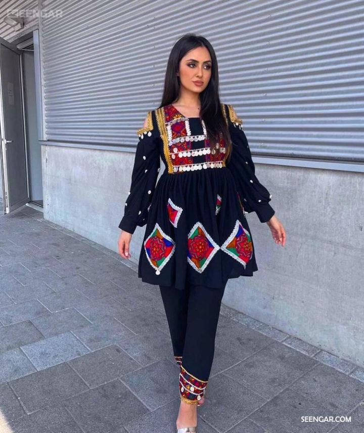 Blue Afghan Dress