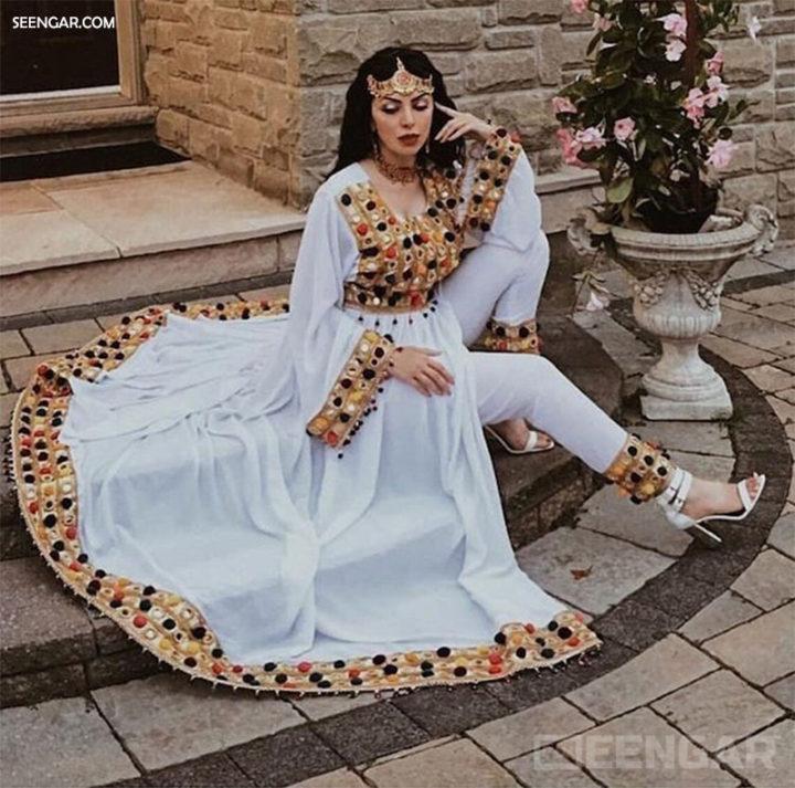 Modern White Mirror Dress