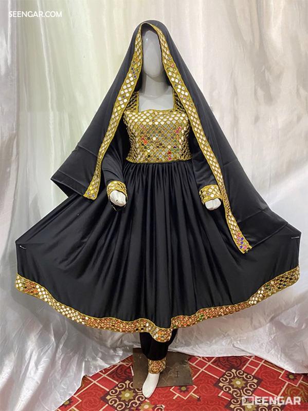 Black Afghan Dress